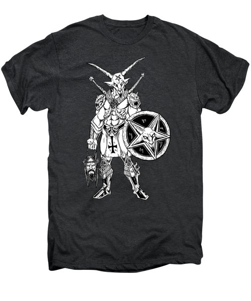 Battle Goat Black Men's Premium T-Shirt by Alaric Barca