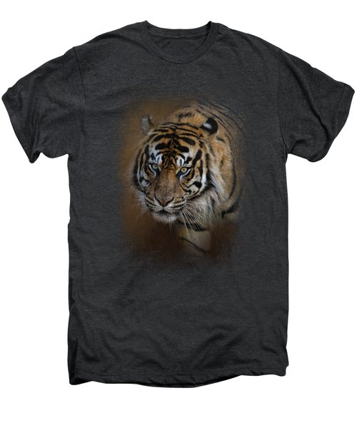 Bengal Stare Men's Premium T-Shirt by Jai Johnson
