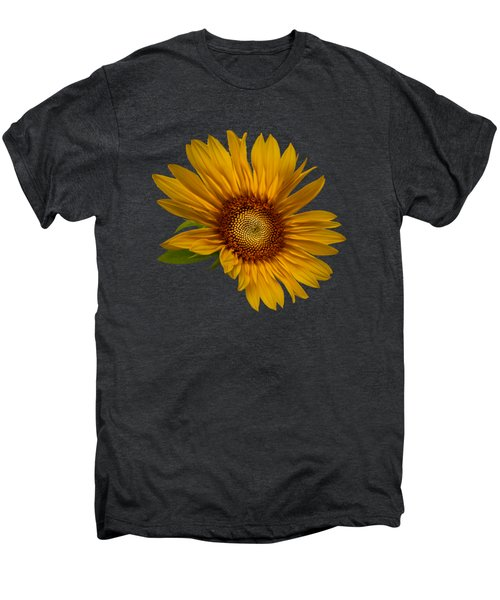 Big Sunflower Men's Premium T-Shirt by Debra and Dave Vanderlaan