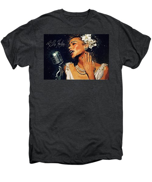 Billie Holiday Men's Premium T-Shirt by Taylan Soyturk