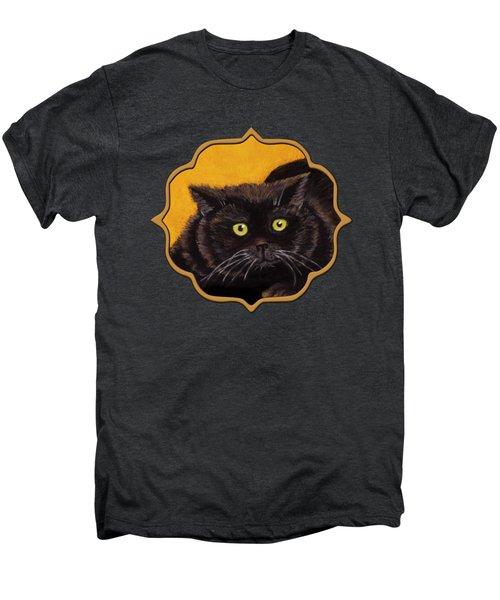 Black Cat Men's Premium T-Shirt by Anastasiya Malakhova