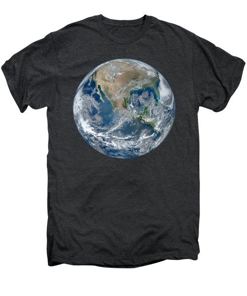Blue Marble 2012 Planet Earth Men's Premium T-Shirt by Nikki Marie Smith