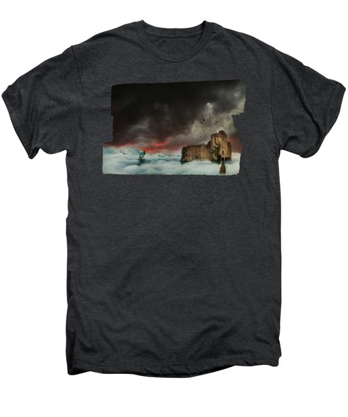 Castle In The Clouds Men's Premium T-Shirt by Terry Fleckney