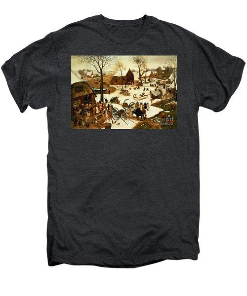 Census At Bethlehem Men's Premium T-Shirt by Pieter the Elder Bruegel