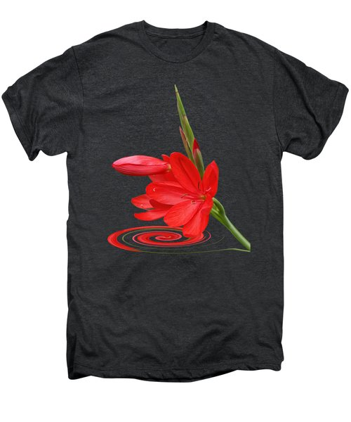 Chic - Ritzy Red Lily Men's Premium T-Shirt by Gill Billington