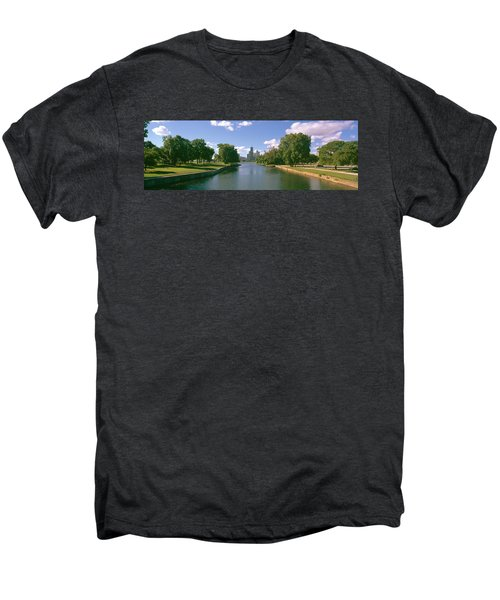Chicago From Lincoln Park, Illinois Men's Premium T-Shirt by Panoramic Images