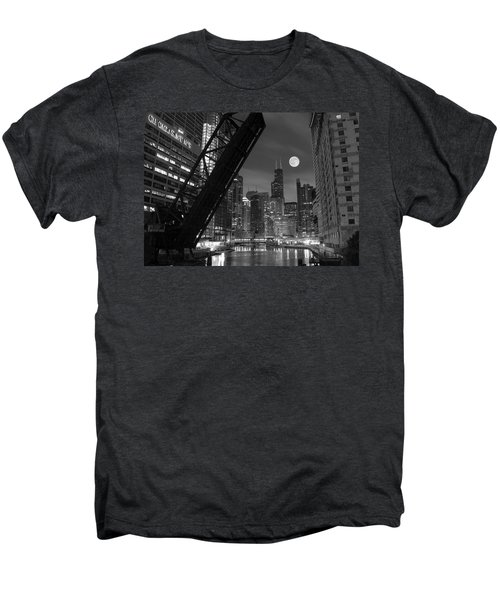 Chicago Pride Of Illinois Men's Premium T-Shirt by Frozen in Time Fine Art Photography