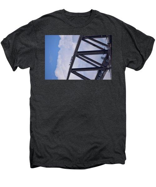 Climbers On Sydney Harbour Bridge Men's Premium T-Shirt by Sandy Taylor