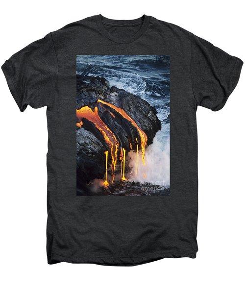 Close-up Lava Men's Premium T-Shirt by Don King - Printscapes