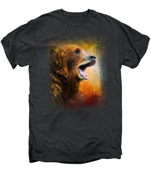 Colorful Expressions Grizzly Bear 2 Men's Premium T-Shirt by Jai Johnson