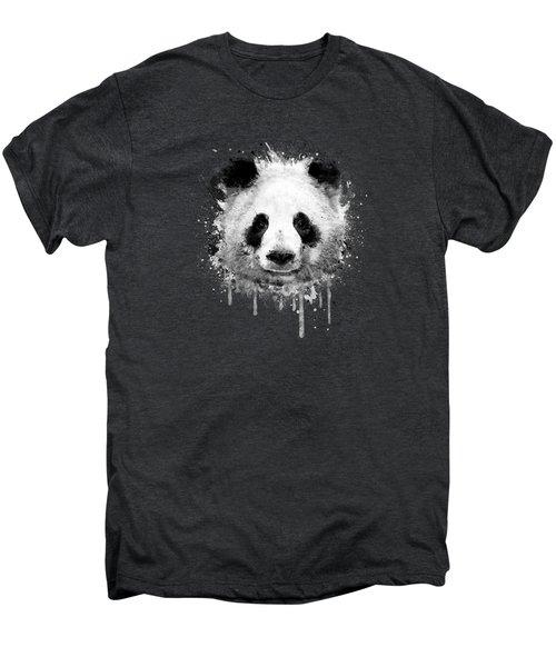 Cool Abstract Graffiti Watercolor Panda Portrait In Black And White  Men's Premium T-Shirt by Philipp Rietz