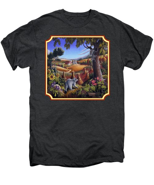 Coon Gap Holler Country Landscape - Square Format Men's Premium T-Shirt by Walt Curlee