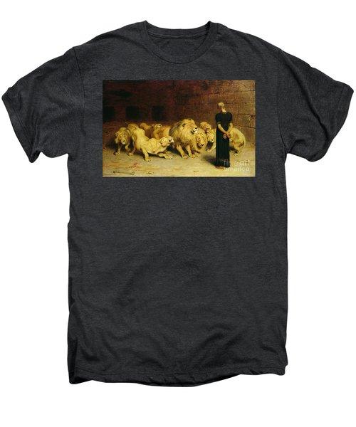 Daniel In The Lions Den Men's Premium T-Shirt by Briton Riviere