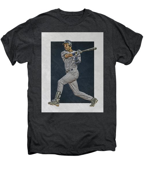 Derek Jeter New York Yankees Art 2 Men's Premium T-Shirt by Joe Hamilton