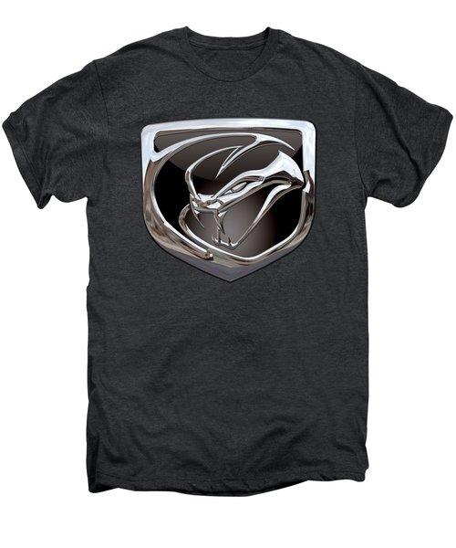 Dodge Viper - 3d Badge On Black Men's Premium T-Shirt by Serge Averbukh