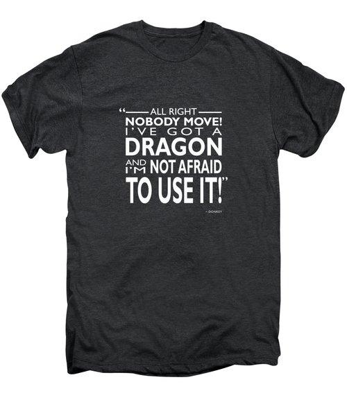 Donkey On The Edge Men's Premium T-Shirt by Mark Rogan