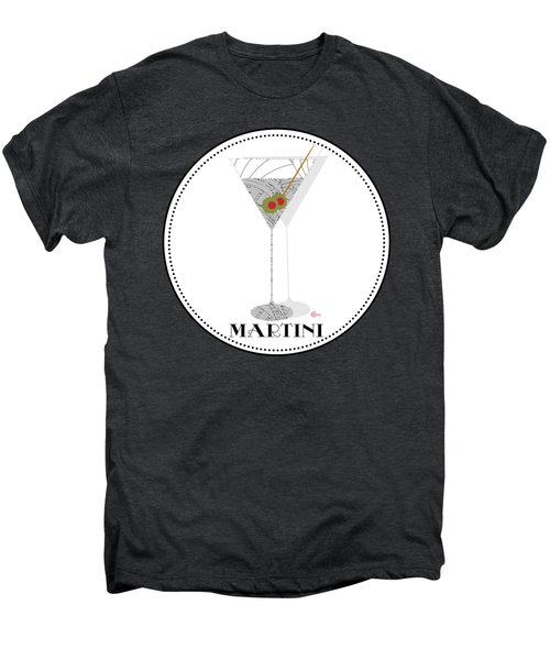 Dry Martini Cocktail Pop Art Deco Men's Premium T-Shirt by Cecely Bloom