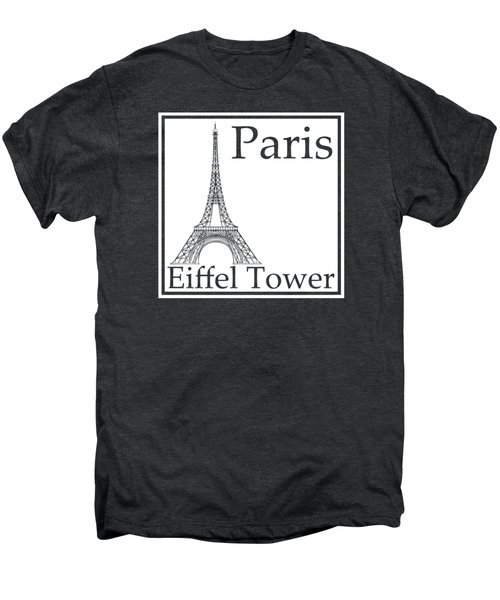 Eiffel Tower In White Men's Premium T-Shirt by Custom Home Fashions