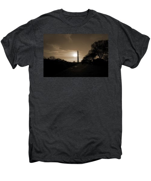 Evening Washington Monument Silhouette Men's Premium T-Shirt by Betsy Knapp