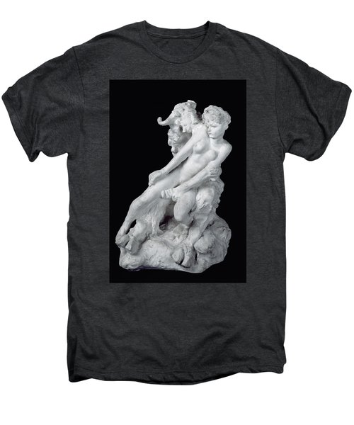 Faun And Nymph Men's Premium T-Shirt by Auguste Rodin