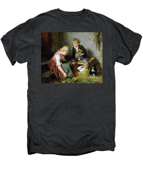 Feeding The Rabbits Men's Premium T-Shirt by Felix Schlesinger