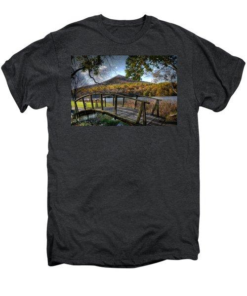 Foot Bridge Men's Premium T-Shirt by Todd Hostetter