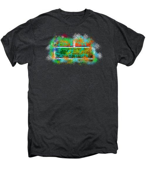 Forgive Brick Orange Tshirt Men's Premium T-Shirt by Tamara Kulish