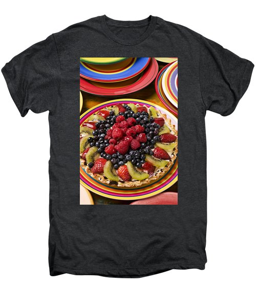 Fruit Tart Pie Men's Premium T-Shirt by Garry Gay