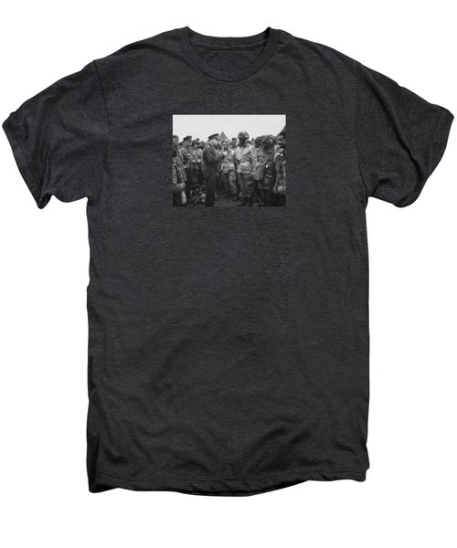 General Eisenhower On D-day  Men's Premium T-Shirt by War Is Hell Store