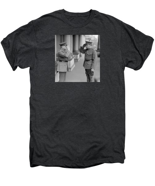 General John Pershing Saluting Babe Ruth Men's Premium T-Shirt by War Is Hell Store