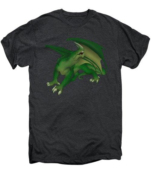 Green Dragon Men's Premium T-Shirt by Gaynore Craps
