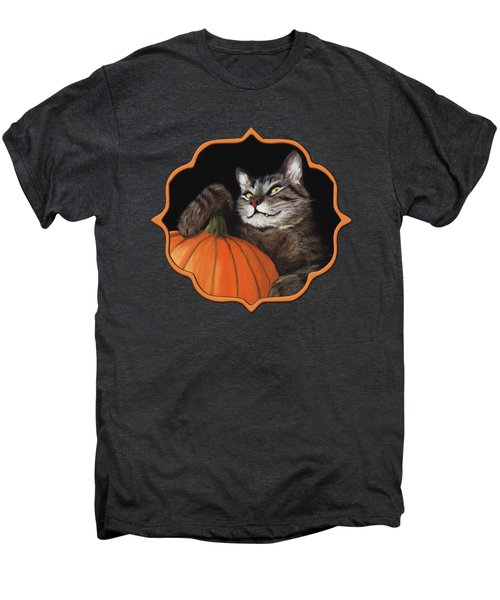 Halloween Cat Men's Premium T-Shirt by Anastasiya Malakhova