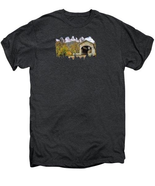Harris Covered Bridge Men's Premium T-Shirt by Thom Zehrfeld