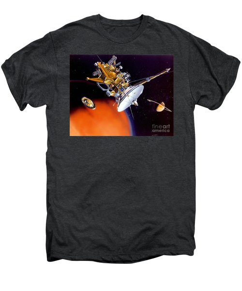 Huygens Probe Separating Men's Premium T-Shirt by NASA and Photo Researchers