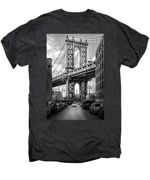 Iconic Manhattan Bw Men's Premium T-Shirt by Az Jackson