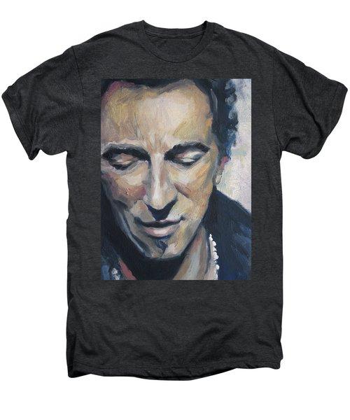 It's Boss Time II - Bruce Springsteen Portrait Men's Premium T-Shirt by Khairzul MG
