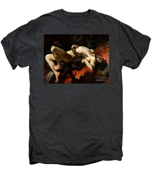 Ixion Thrown Into Hades Men's Premium T-Shirt by Jules Elie Delaunay
