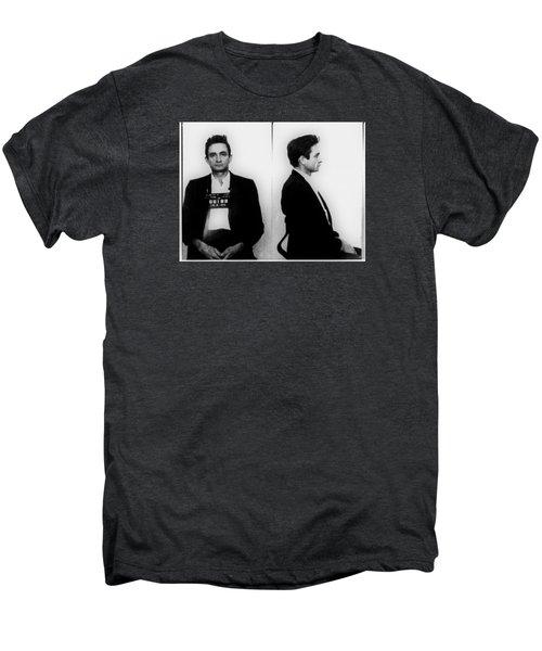 Johnny Cash Mug Shot Horizontal Men's Premium T-Shirt by Tony Rubino