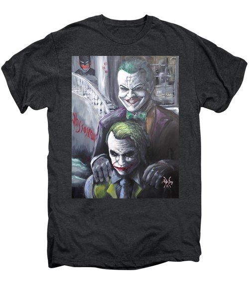 Jokery In Wayne Manor Men's Premium T-Shirt by Tyler Haddox