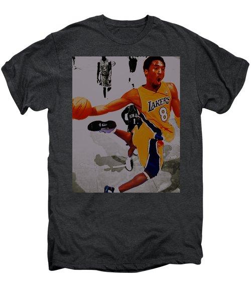 Kobe Bryant Taking Flight 3a Men's Premium T-Shirt by Brian Reaves