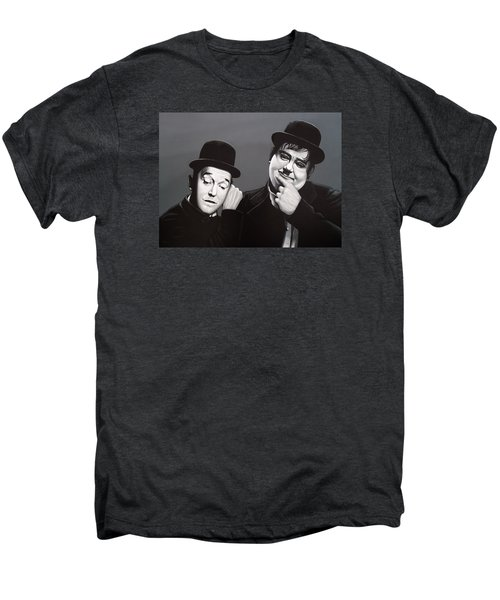Laurel And Hardy Men's Premium T-Shirt by Paul Meijering