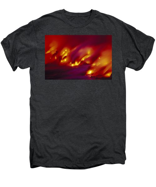 Lava Up Close Men's Premium T-Shirt by Ron Dahlquist - Printscapes