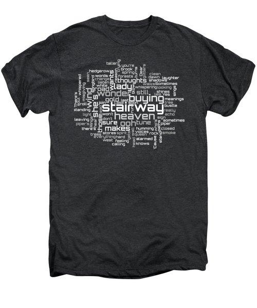 Led Zeppelin - Stairway To Heaven Lyrical Cloud Men's Premium T-Shirt by Susan Maxwell Schmidt