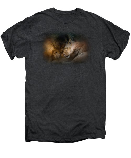 Lion Love Men's Premium T-Shirt by Jai Johnson