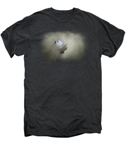 Little Tufted Titmouse Men's Premium T-Shirt by Jai Johnson