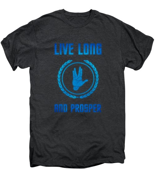 Live Long And Prosper Spock's Hand Leonard Nimoy Geek Tribut Men's Premium T-Shirt by Philipp Rietz