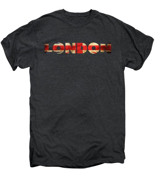 London Vintage British Flag Tee Men's Premium T-Shirt by Edward Fielding