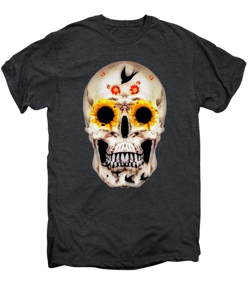 Looking Through Sunflowers Men's Premium T-Shirt by Heather Joyce Morrill