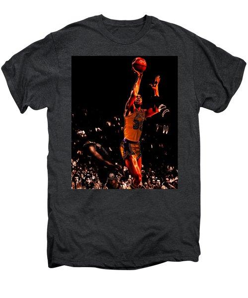 Magic Johnson Lean Back II Men's Premium T-Shirt by Brian Reaves