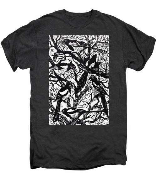 Magpies Men's Premium T-Shirt by Nat Morley